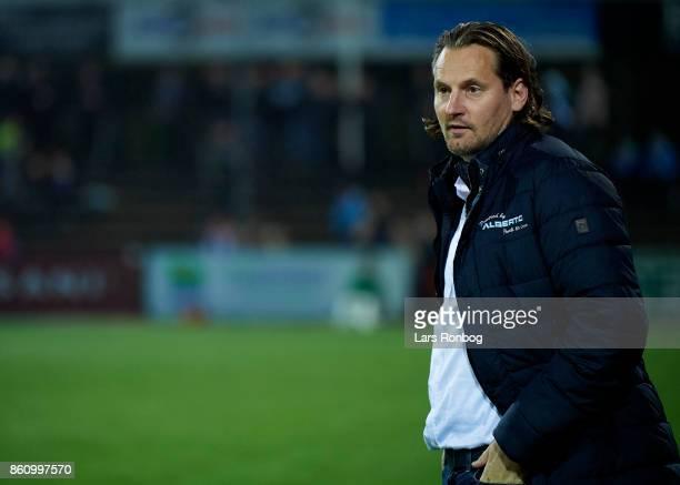 Hans Jorgen Haysen sports director of Sonderjyske looks on prior to the Danish Alka Superliga match between Sonderjyske and FC Midtjylland at Sydbank...