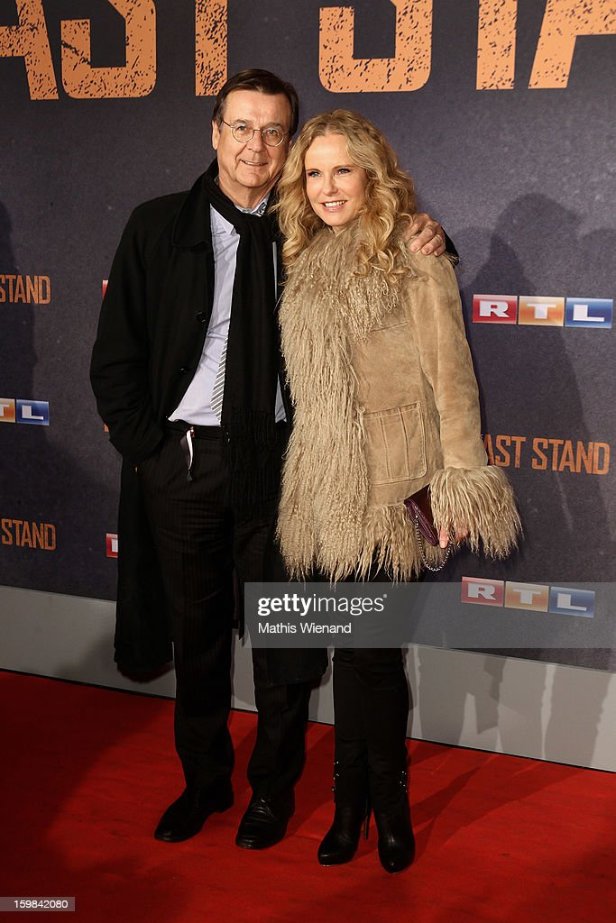 Hans Mahr and his wife Katja Burkard attend the 'The Last Stand' Cologne Premiere at Astor Film Lounge on January 21, 2013 in Cologne, Germany.