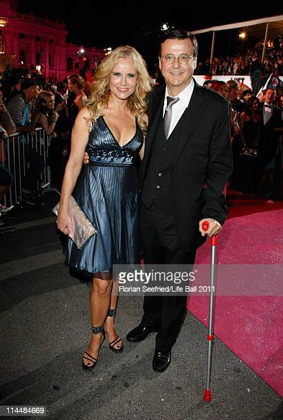Hans Mahr and Katja Burkard attend the 19th Life Ball at the Town Hall on May 21 2011 in Vienna Austria