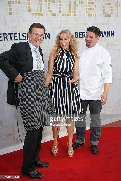 Hans Mahr Katja Burkard and Tim Maelzer attend the Bertelsmann Summer Party at the Bertelsmann representative office on June 6 2013 in Berlin Germany
