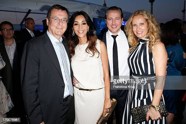 Hans Mahr Verona Pooth Franjo Pooth and Katja Burkard attend the Bertelsmann Summer Party at the Bertelsmann representative office on June 6 2013 in...