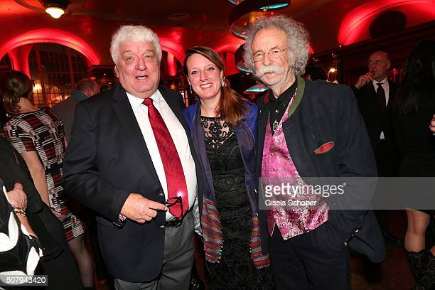 Hans Meiser and daughter Anouk Meiser and Jean Puetz during the Lambertz Monday Night 2016 at Alter Wartesaal on February 1 2016 in Cologne Germany