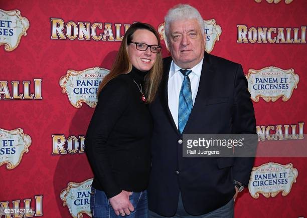 Hans Meiser and his daughter Anouk attend the premiere of the Circus Roncalli show 'Panem et Circenses' on November 13 2016 in Cologne Germany