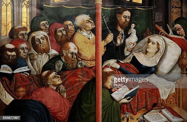 Hans Multscher German painter Wurzach Altarpiece 1437 The Death of the Virgin Gemaldegalerie Berlin Germany