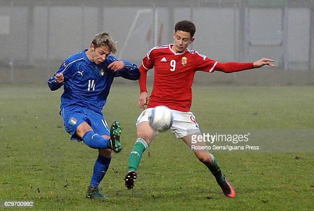 Hans Nicolussi Caviglia of Italy during the International Friendly match between Italy U17 and Hungary U17 at Stadio Germano Todoli on December 14...