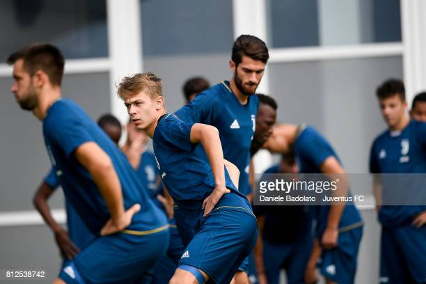 Hans Nicolussi Caviglia of Juventus during the morining training session on July 11 2017 in Vinovo Italy