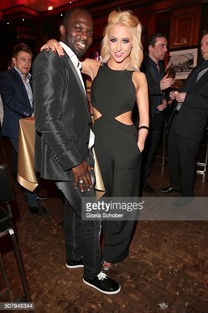 Hans Sarpei and dancer Kathrin Menzinger during the Lambertz Monday Night 2016 at Alter Wartesaal on February 1 2016 in Cologne Germany