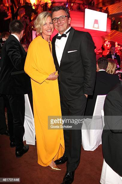 Hans Sigl and his wife Susanne during the German Filmball 2015 at Hotel Bayerischer Hof on January 17 2015 in Munich Germany