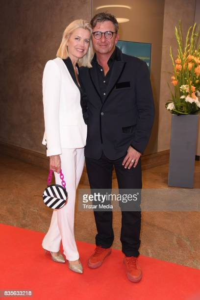 Hans Sigl and his wife Susanne Kemmler attend the GRK Golf Charity Masters evening gala on August 19 2017 in Leipzig Germany