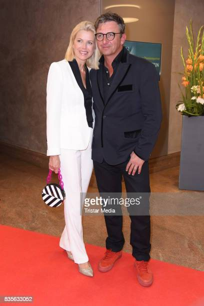 Hans Sigl and his wife Susanne Sigl attend the GRK Golf Charity Masters evening gala on August 19 2017 in Leipzig Germany