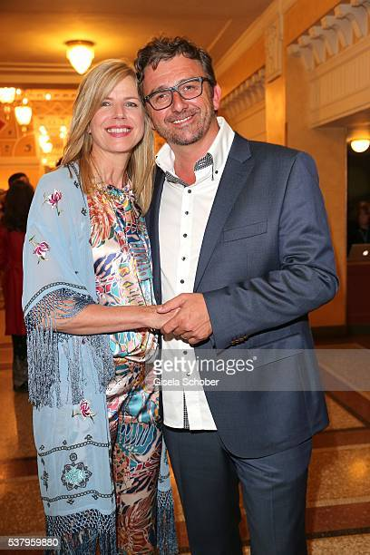 Hans Sigl and his wife Susanne Sigl during the 'Bayerischer Fernsehpreis' 2016 at Prinzregententheater on June 3 2016 in Munich Germany