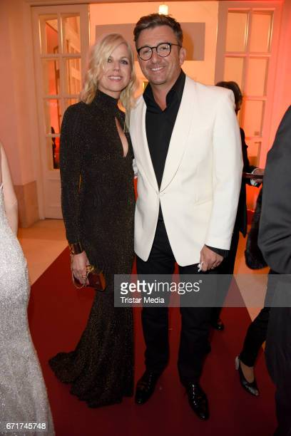 Hans Sigl and his wife Susanne Kemmler during the ROMY award at Hofburg Vienna on April 22 2017 in Vienna Austria
