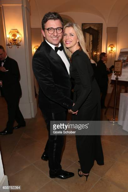 Hans Sigl and his wife Susanne Sigl during the Semper Opera Ball 2017 reception at Hotel Taschenbergpalais Kempinski on February 3 2017 in Dresden...