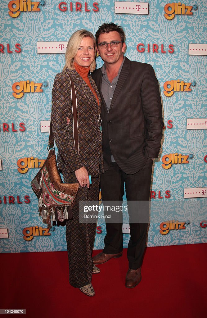 Hans Sigl and wife attend 'Girls' preview event of TV channel glitz* at Hotel Bayerischer Hof on October 16, 2012 in Munich, Germany. The series premieres on October 17, 2012 (every Wednesday at 9:10 pm on glitz*).