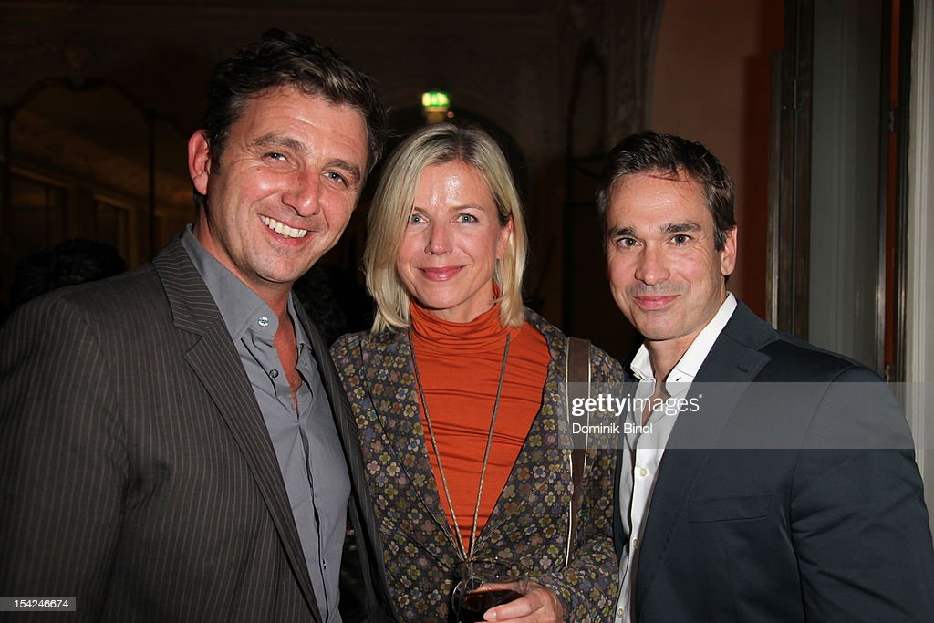 Hans Sigl, his wife and Manou Lubowski attend 'Girls' preview event of TV channel glitz* at Hotel Bayerischer Hof on October 16, 2012 in Munich, Germany. The series premieres on October 17, 2012 (every Wednesday at 9:10 pm on glitz*).