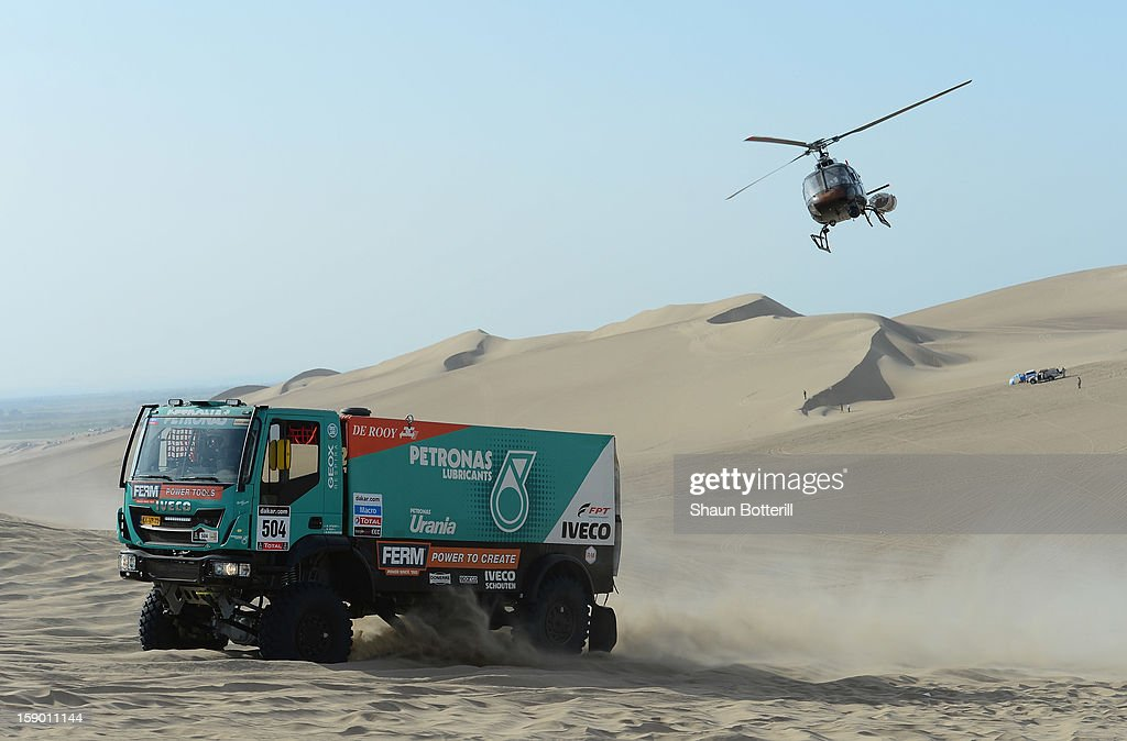 Hans Stacey of team Tatra competes in the special stage during day one of the of the 2013 Dakar Rally on January 5, 2013 in Pisco, Peru.