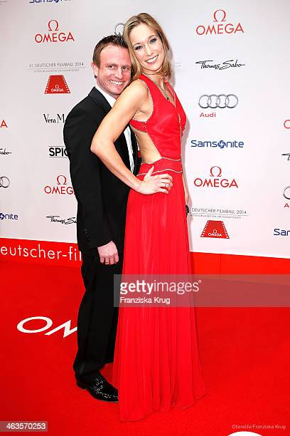 Hans Theiss and Christine Theiss attend the German Film Ball 2014 on January 18 2014 in Munich Germany