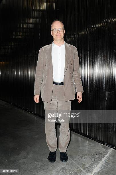 Hans Ulrich Obrist attends the Miart 2015 Art Talk on April 10 2015 in Milan Italy