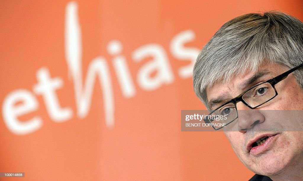 Hans Verstraete, vice-chairman of the Belgian insurance company Ethias direction committee, gives a press conference on May 20, 2010 in Brussels. The European Union Today gave the final approval to the Belgian government's 1,5 billion euro rescue for Ethias in return for major restructuring measures.