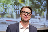 Hans Vestberg chief executive officer of Ericsson AB poses for a photograph following a news conference to present second quarter earnings at...
