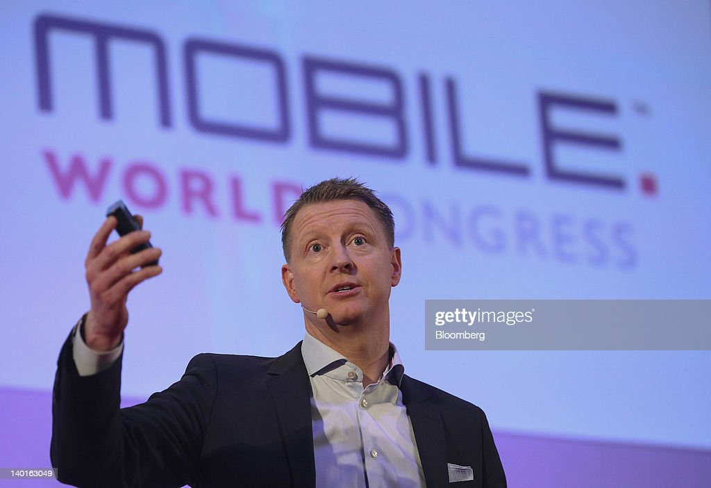 <a gi-track='captionPersonalityLinkClicked' href=/galleries/search?phrase=Hans+Vestberg&family=editorial&specificpeople=3948941 ng-click='$event.stopPropagation()'>Hans Vestberg</a>, chief executive officer of Ericsson AB, speaks during a keynote event at the Mobile World Congress in Barcelona, Spain, on Wednesday, Feb. 29, 2012. The Mobile World Congress, operated by the GSMA, expects 60,000 visitors and 1400 companies to attend the four-day technology industry event which runs Feb. 27 through March 1. Photographer: Chris Ratcliffe/Bloomberg via Getty Images
