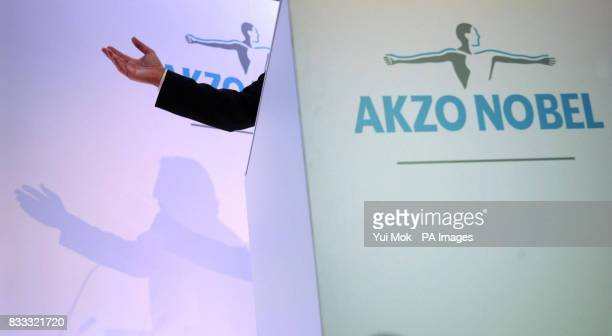 Hans Wijers of Akzo Nobel at a press conference in The Great Eastern Hotel London ICI one of the most famous names in British industry is set to fall...