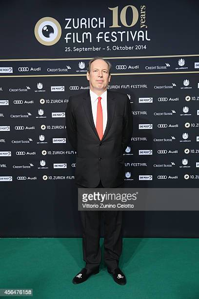 Hans Zimmer poses on the Green Carpet during Day 7 of Zurich Film Festival 2014 on October 1 2014 in Zurich Switzerland