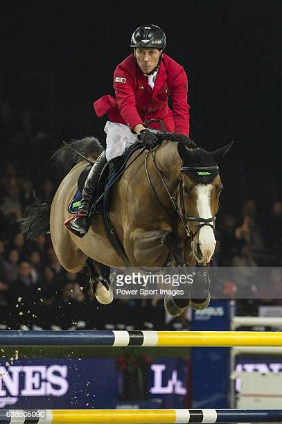 HansDieter Dreher of Germany riding Callisto at the the Massimo Dutti Trophy during the Longines Hong Kong Masters 2015 at the AsiaWorld Expo on 15...