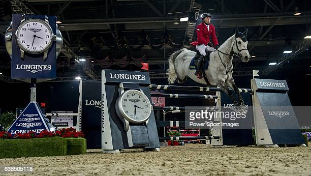HansDieter Dreher of Germany riding Cool And Easy in action during the Longines Grand Prix as part of the Longines Hong Kong Masters on 15 February...