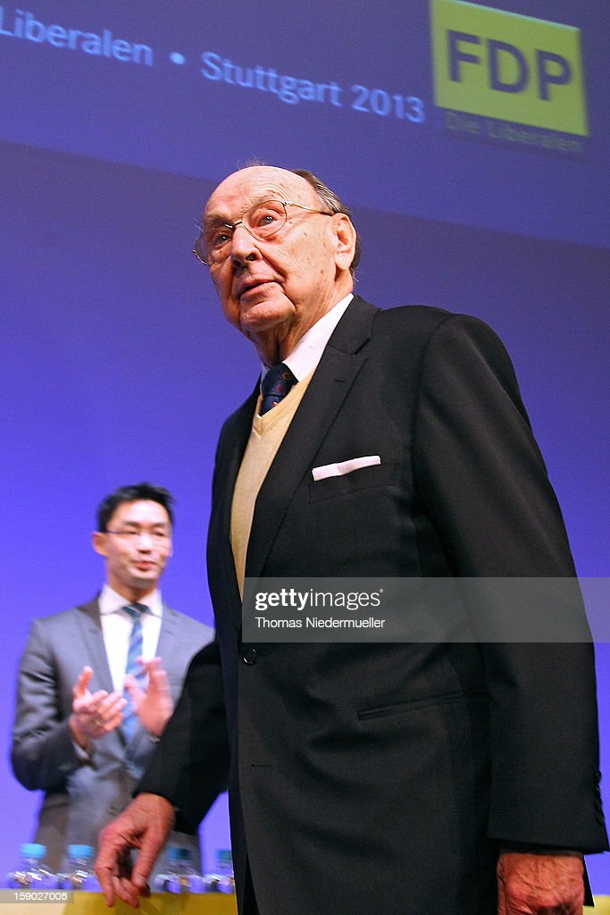 Hans-Dietrich Genscher attends the annual Epiphany conference at the state opera house on January 6, 2013 in Stuttgart, Germany.