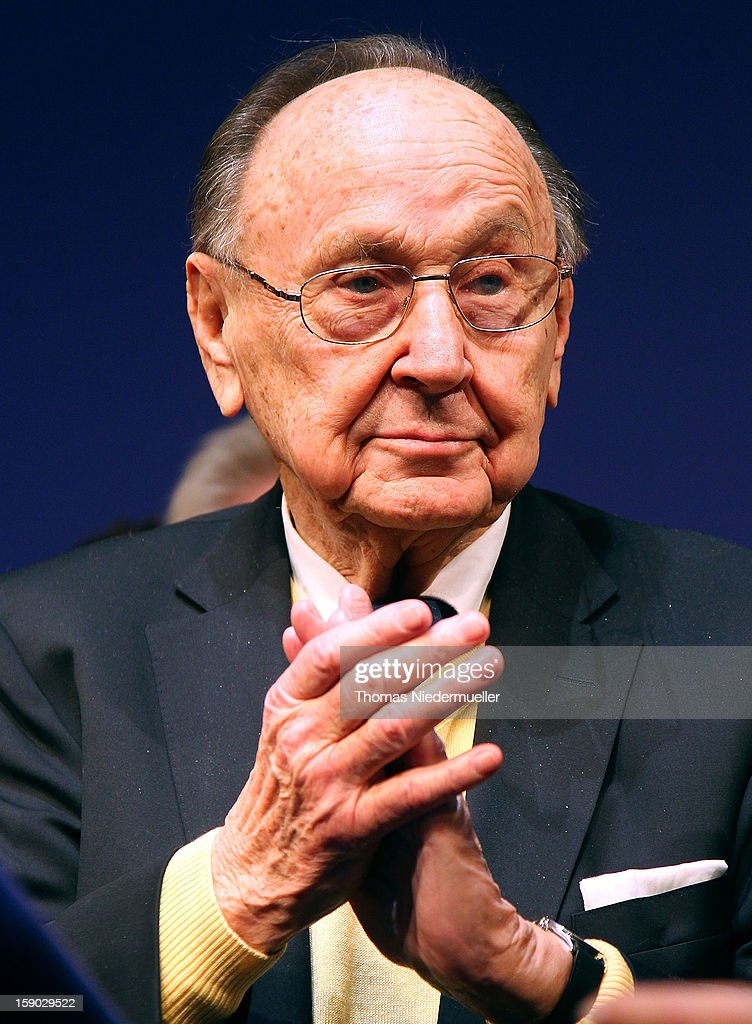 Hans-Dietrich Genscher attends the annual Epiphany conference at the state opera house on January 6, 2013 in Stuttgart, Germany. The FDP is the junior partner in the current German coalition government and current polls show the party struggling to stay above the critical 5% mark needed if it is to retain seats in the Bundestag in national elections scheduled for later this year.