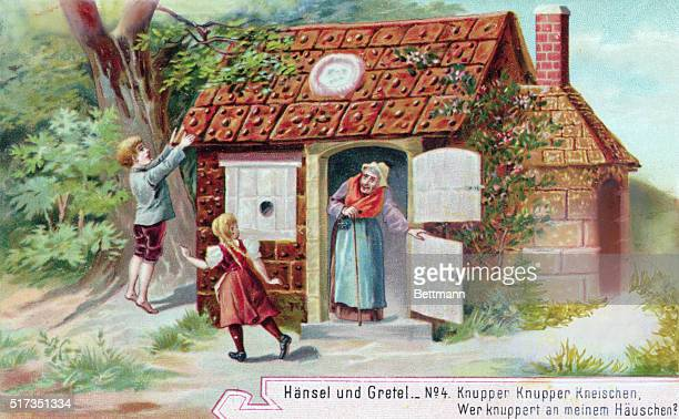 Hansel And Gretel at Witch's Cottage