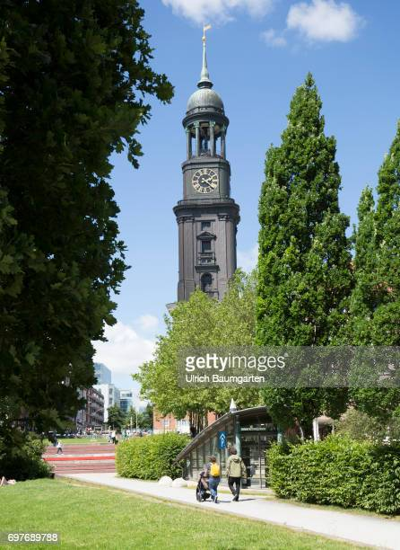 Hansestadt Hamburg the photo shows the church of St Michaelis