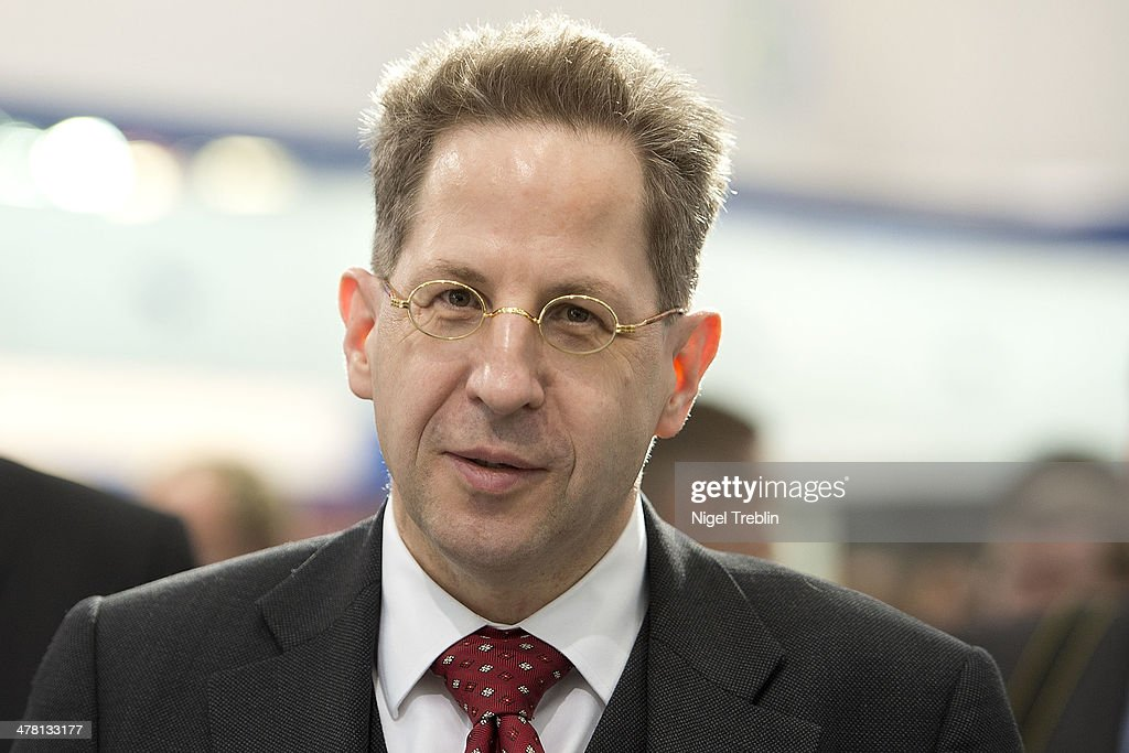 Hans-Georg Maassen, head of the Office for the Protection of the Constitution (Verfassungsschutz), the main German anti-terrorism agency during a visit at the 2014 CeBIT technology Trade fair on March 12, 2014 in Hanover, Germany. CeBIT is the world's largest technology fair and this year's partner nation is Great Britain.