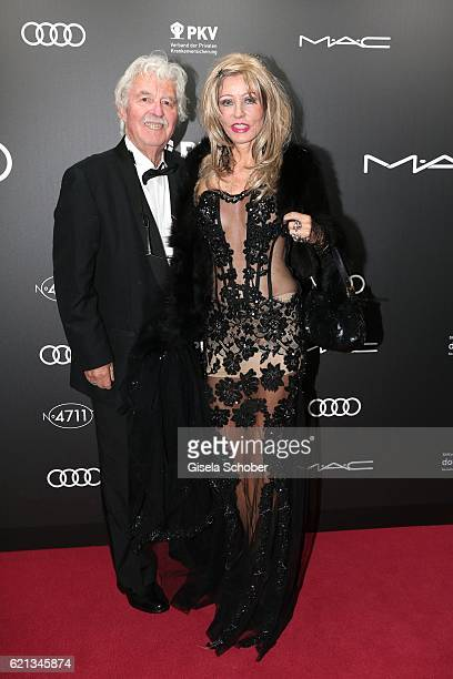 HansGeorg Muth and his wife Gisela Muth during the 23rd Opera Gala benefit to 'Deutsche AIDSStiftung' at Deutsche Oper Berlin on November 5 2016 in...