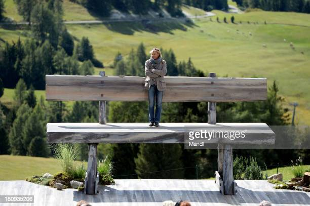 Hansi Hinterseer poses during the recording of the TV Show 'ZDF Fernsehgarten' at Seiser Alm near Kastelruth on September 17 2013 in Kastelruth Italy