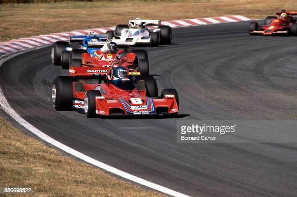 HansJoachim Stuck Carlos Reutemann Jacques Laffite Ricardo Patrese Gunnar Nilsson BrabhamAlfa Romeo BT45B Ferrari 312T2 LigierMatra JS7 ShadowFord...