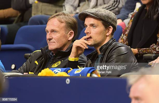 HansJoachim Watzke and coach Thomas Tuchel of Borussia Dortmund during the game between Alba Berlin and the MHP Riesen Ludwigsburg on february 6 2016...