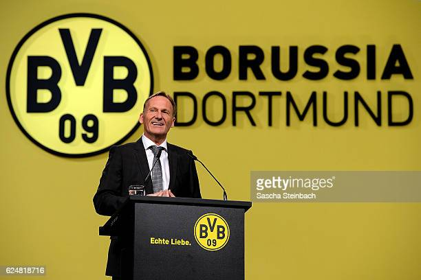 HansJoachim Watzke attends the Borussia Dortmund Annual General Assembly on November 21 2016 in Dortmund Germany