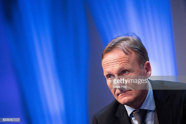 HansJoachim Watzke CEO of Borussia Dortmund attends SpoBis 2017 on January 30 2017 in Duesseldorf Germany