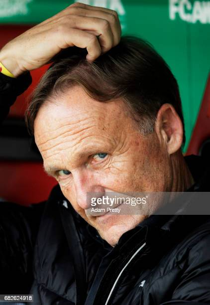 HansJoachim Watzke CEO of Borussia Dortmund before the Bundesliga match between FC Augsburg and Borussia Dortmund at WWK Arena on May 13 2017 in...