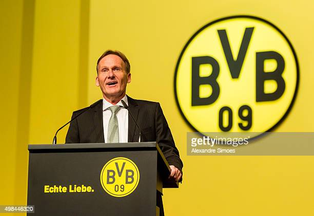 HansJoachim Watzke during Borussia Dortmund's Annual General Assembly at congress center Westfallenhallen on November 23 2015 in Dortmund Germany