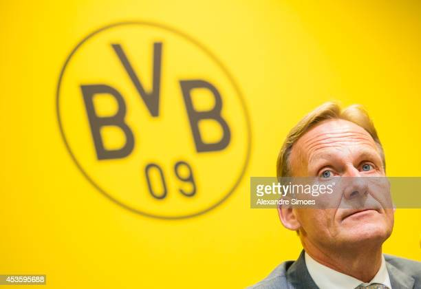 HansJoachim Watzke during the annual balance press conference of Borussia Dortmund GmbH Co KGaA at the press room of Signal Iduna Park on August 14...