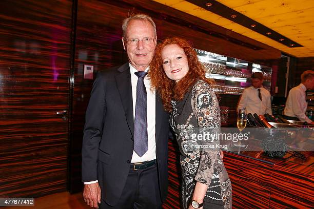 HansOlaf Henkel and Bettina Hannover attend the Bertelsmann Summer Party on June 18 2015 in Berlin Germany