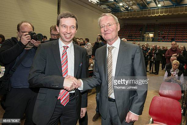 HansOlaf Henkel former president of Association of German Industry and candidat for the 'Alternative for Germany Party' AfD and AfD leader Bernd...