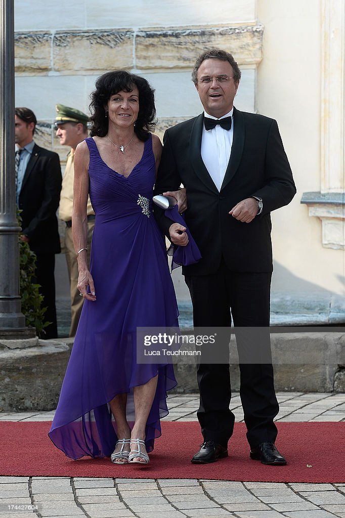 Hans-Peter Friedrich and wife Annette Friedrich attend the Bayreuth Festival opening on July 25, 2013 in Bayreuth, Germany.