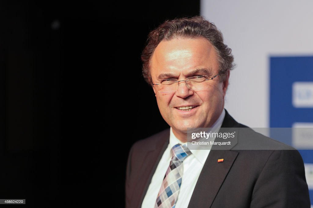 HansPeter Friedrich attends the annual 'ARD Capital Meeting ARDHauptstadttreff' on November 6 2014 in Berlin Germany Representatives from politics...