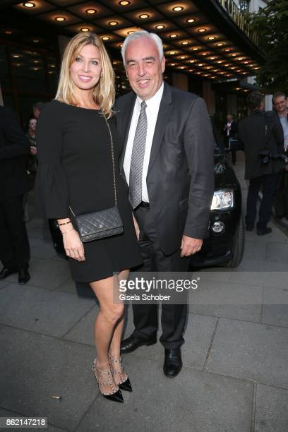 HansReiner Schroeder and his wife Katerina Schroeder during the 2oth 'Busche Gala' at The Charles Hotel on October 16 2017 in Munich Germany