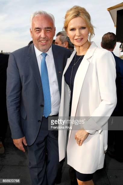 HansReiner Schroeder and Veronica Ferres attend the 'Staatsoper fuer alle' at Hotel De Rome on September 30 2017 in Berlin Germany