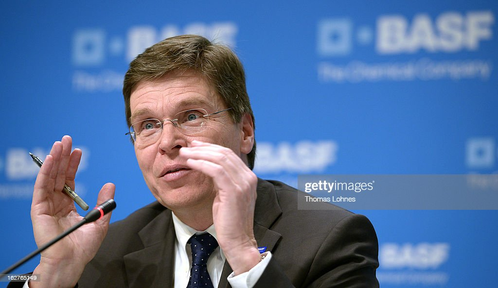 Hans-Ulrich Engel, chief financial officer of BASF SE, speaks during the company's earnings news conference on February 26, 2013 in Ludwigshafen, Germany. BASF SE, the world's largest chemical company, has projected increased sales this year.